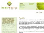 Healthsource website screenshot