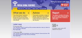 Virtual Global Taskforce website screenshot