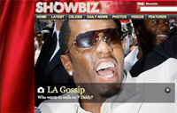 Sky showbiz website screenshot